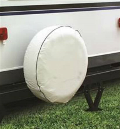 Camco 45347 Vinyl Spare Tire Cover - Arctic White - 25-1/2""