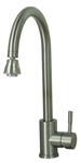 American Brass SL7000BN-A Gooseneck Spout Kitchen Faucet - Brushed Nickel