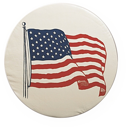 ADCO 1787 Size J Spare Tire Cover - US Flag - 27""