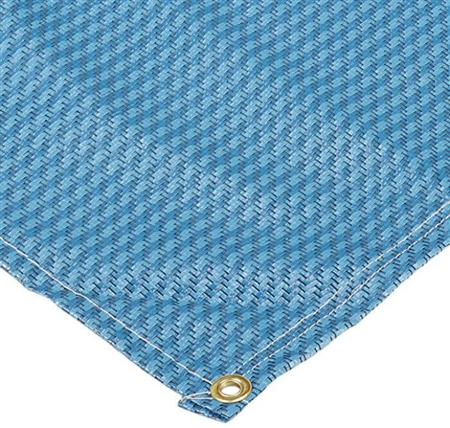 Carefree 181873 Dura-Mat RV Patio Rug - Blue - 18' x 8'
