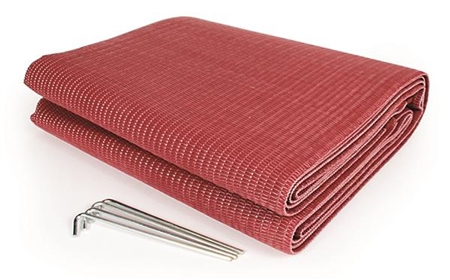 Camco 42882 Reversible Awning Leisure Mat - Burgundy - 9' x 6'
