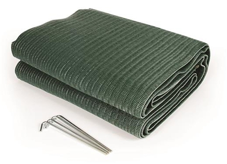 Camco 42880 Reversible Awning Leisure Mat Green 9 X 6