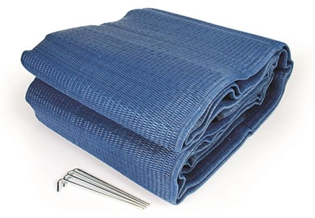 Camco 42821 Reversible Awning Leisure Mat - Blue - 12' x 9'