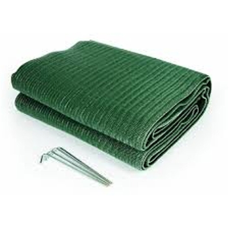 Camco 12' x 9' Reversible RV Awning Mat - Green