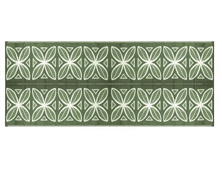 Camco 20' x 8' Reversible RV Outdoor Mat - Green Botanical