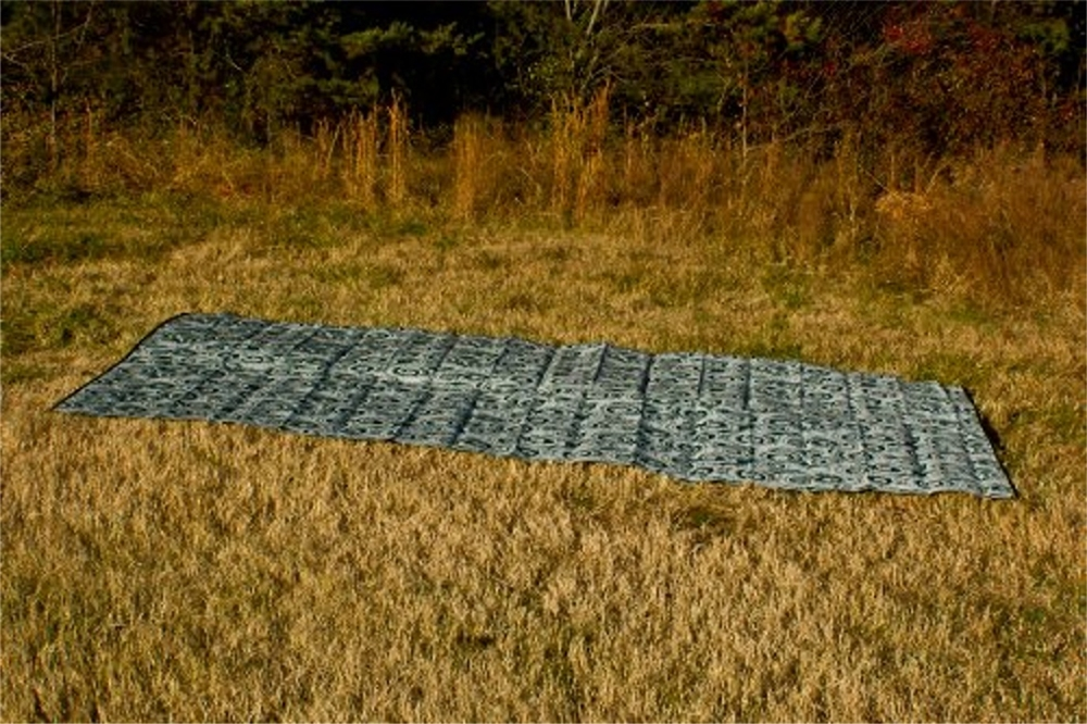 Camco 42840 Rv Reversible Outdoor Mat Green Swirl 16 X 8