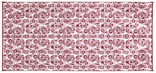Camco 42842 RV Reversible Outdoor Mat - Burgundy Swirl - 16' x 8'