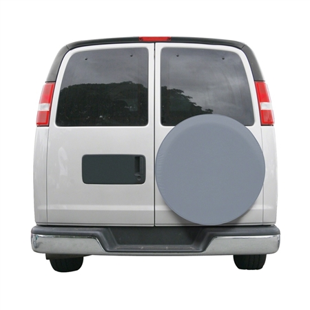 "Classic Accessories 80-091-171001-00 26.75"" - 27.75"" Custom Fit Spare Tire Cover - Grey"