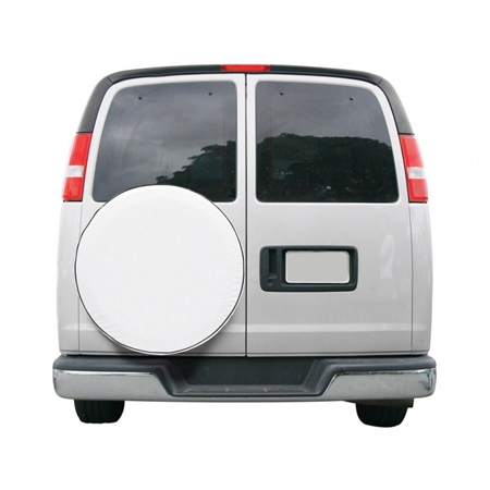 "Classic Accessories 75110 Custom Fit Spare Tire Cover - White - 24""-25"""
