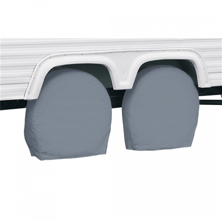 "Classic Accessories 26.75""-29"" RV Wheel Covers - Grey"