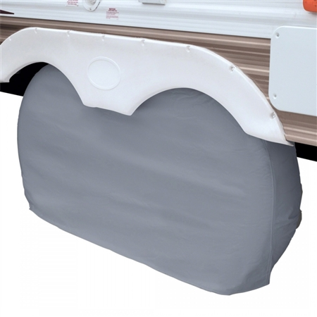 "Classic Accessories Up To 27"" Dual Axle Wheel Cover - Grey"