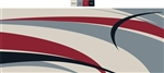 8' x 12' Graphic Reversible RV Patio Mat  Burgundy