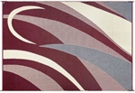 8' x 16' Graphic Reversible RV Patio Mat- Burgundy