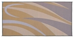 8' x 12' Graphic Reversible RV Patio Mat- Brown/Gold
