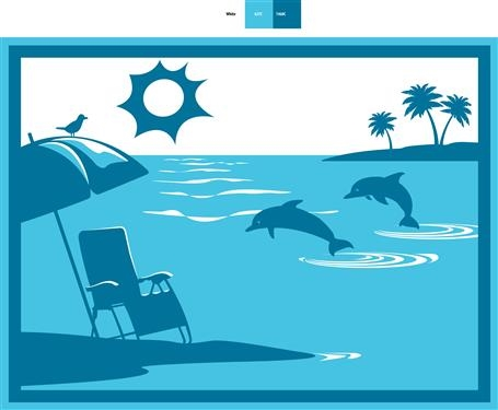 Faulkner 53000 Beach And Dolphins Turquoise RV Patio Mat - 9' x 12'