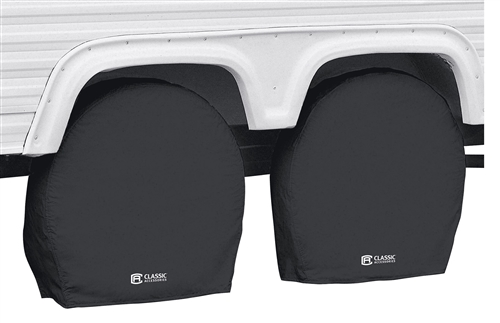 "Classic Accessories 80-238-160402-00 RV Wheel Covers - Black - 27"" - 30"""