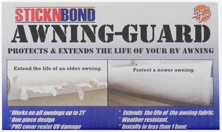 Leisure Time 60090 Stick-N-Bond Protect & Extend Black Awning Guard 21' x 8""