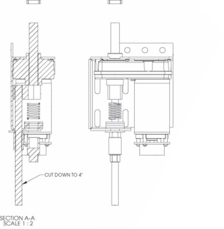 Lippert 014-145581 LT Global Motor for E-Z Bedlift Systems