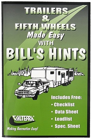 Valterra A02-2000 Trailers and Fifth Wheels Made Easy with Bill's Hints