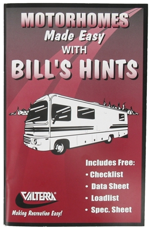 Valterra Motorhomes Made Easy with Bill's Hints