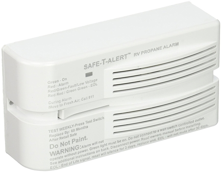 Safe-T-Alert 40-441-P-WT 40 Series Propane/LP Gas Detector - Surface Mount - White