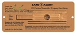 Safe-T-Alert 35-742-BR 35 Series Dual CO/LP Gas Detector - Flush Mount - Brown