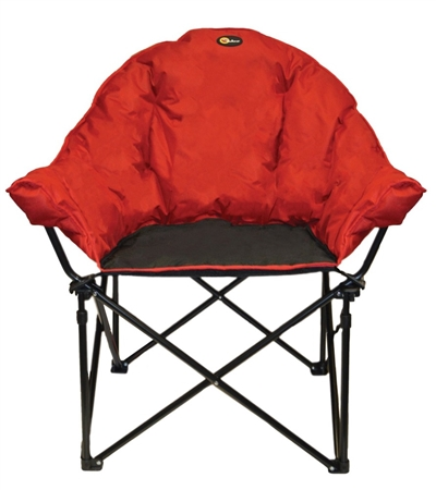 Faulkner Big Dog Bucket Chair - Burgundy/Black