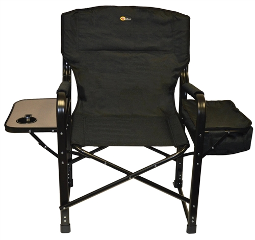 Faulkner 49580 El Capitan Folding Director's Chair With Cooler - Black