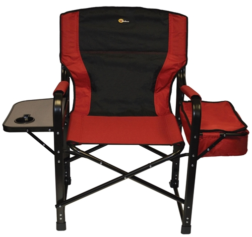 Faulkner 49582 El Capitan Folding Directors Chair - Burgundy/Black