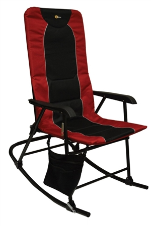 Faulkner Dakota Folding Rocking Chair - Burgundy/Black