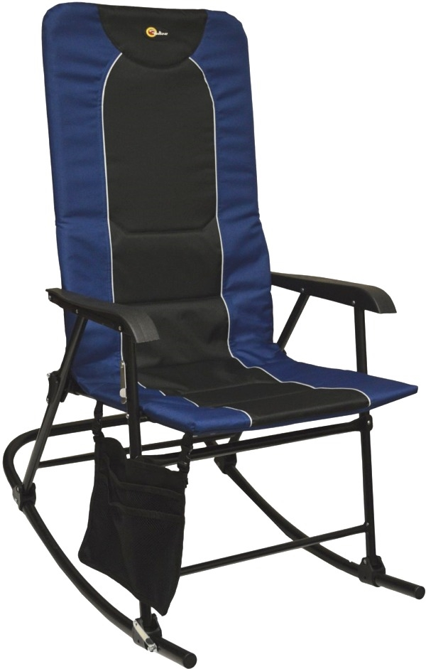 Faulkner 49598 Dakota Folding Rocking Chair Blue Black