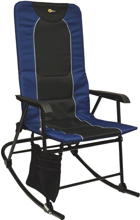 Faulkner Dakota Folding Rocking Chair - Blue/Black