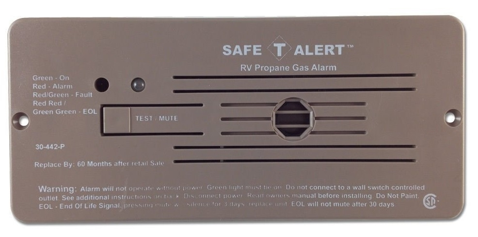 Safe T Alert 30 442 P Br Classic Series Propane Lp Gas Detector The Furnace Circuit Board Mounted Fuse Fuses Part 2 Youtube Flush Mount Brown