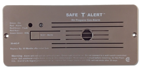 Safe-T-Alert 30-442-P-BR Classic 30 Series Propane/LP Gas Detector - Flush Mount - Brown