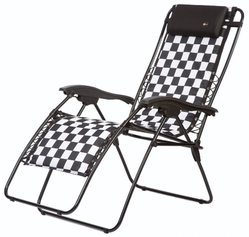 Faulkner Malibu Style Checkered Flag Outdoor Recliner - Standard