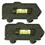 Prime Products 28-0111 Motorhome Bubble Level - Black - 2 Pack