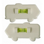 Prime Products 28-0121 Motorhome Bubble Level - White - 2 Pack