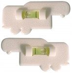 Prime Products 28-0123 5th Wheel Bubble Level - White - 2 Pack