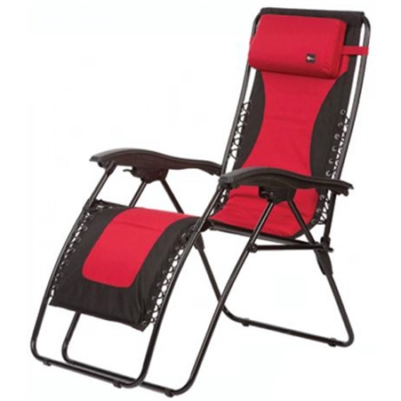 Faulkner Laguna Style Red/Black Outdoor Recliner - Standard