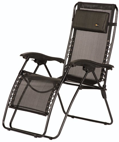 Faulkner Malibu Style Black Mesh Outdoor Recliner - XL