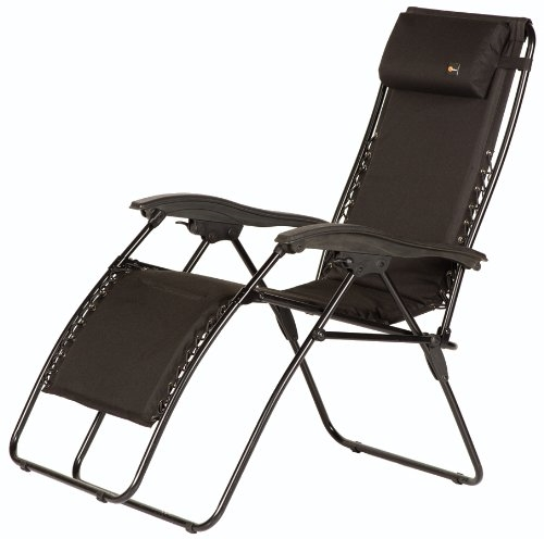 Faulkner Malibu Style Black Outdoor Recliner - XL