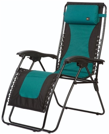 Faulkner Laguna Style Green/Black Outdoor Recliner - XL