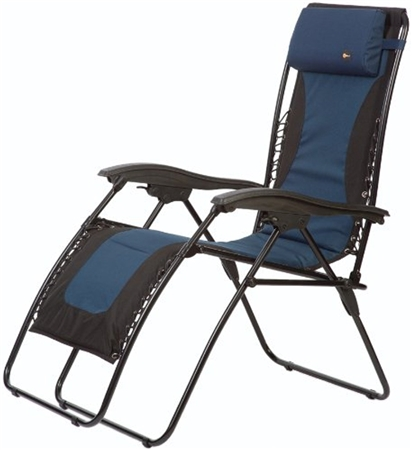 Faulkner Laguna Style Blue/Black Outdoor Recliner - XL