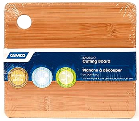 Camco 43542 RV Bamboo Cutting Board with Finger Hole