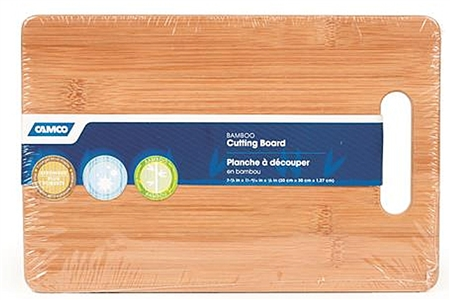 Camco RV Bamboo Cutting Board with Handle
