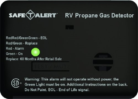 Safe-T-Alert 20-441-P-BL 20 Series Mini Propane/LP Gas Detector - Surface Mount - Black