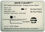 Safe-T-Alert 25-741-WT 25 Series Mini Dual Carbon Monoxide/LP Gas Detector - Surface Mount - White