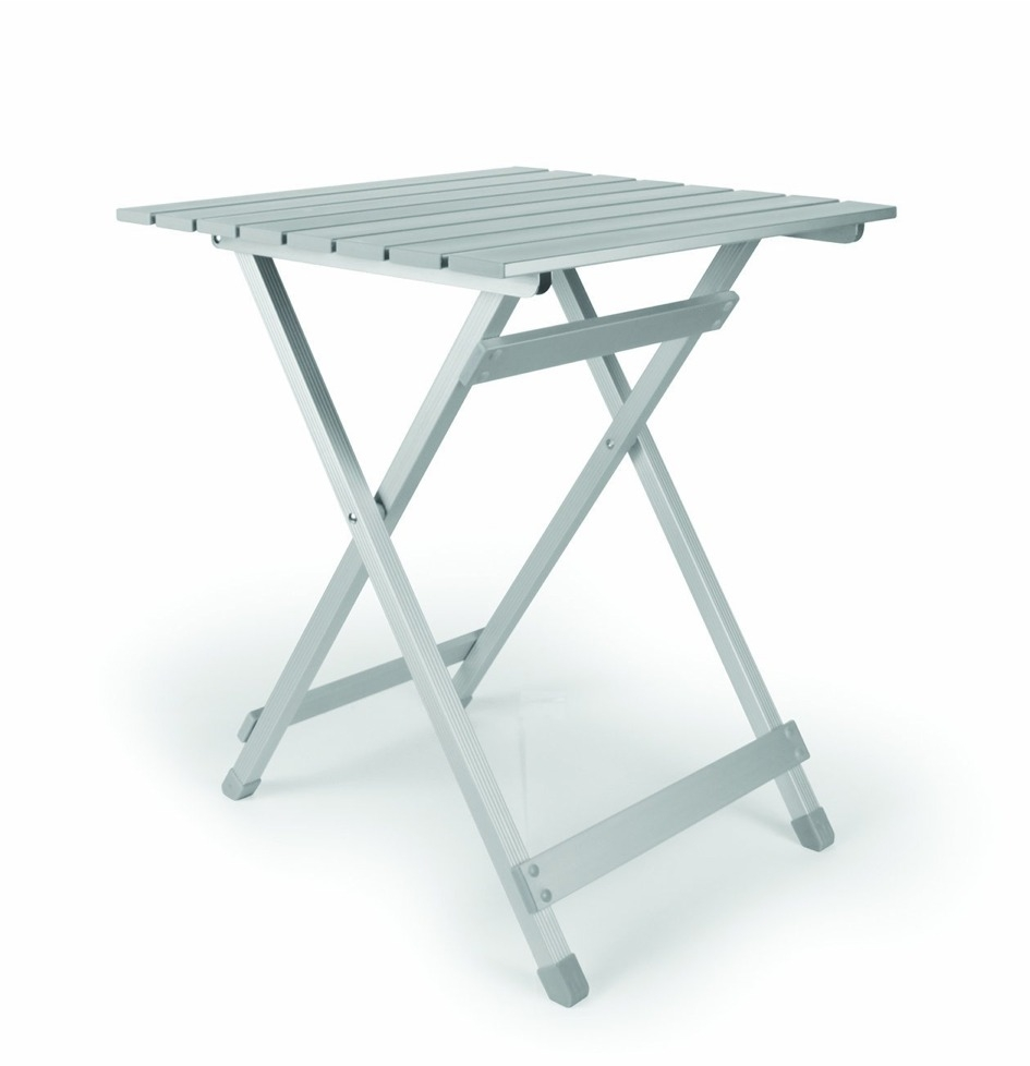 Camco Aluminum Folding Side Table Silver