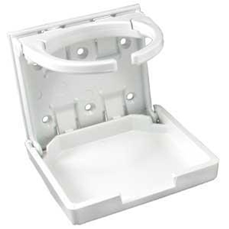 JR Products 45624 Adjustable Cup Holder- White