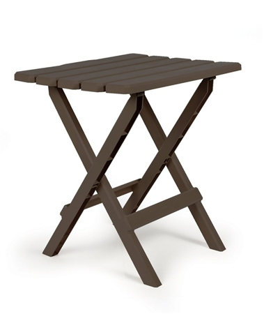 Camco Large Folding Side Table - Brown